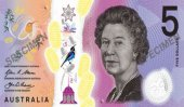 Tactile banknote in Australia to aid the blind