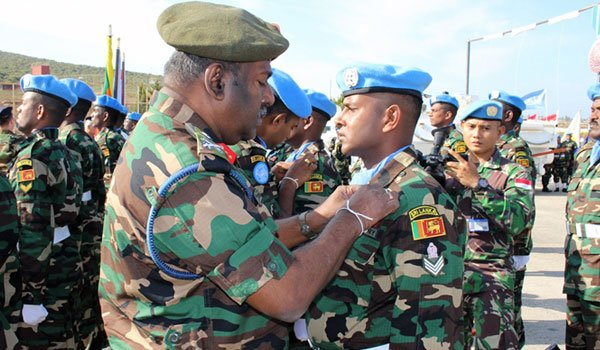 UNIFIL Sri Lankan Troops Given UN Medal