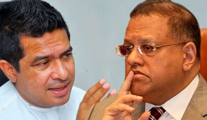 Why did Arjun meet Senasinghe before leaving country?