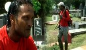 Fmr. National footballer cuts grass for a living!
